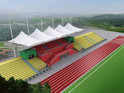 职业院校体育设施看台膜结构遮雨棚安装
