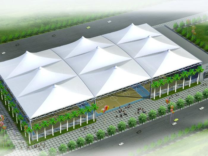 网球场膜结构设计,安装,施工一体化服务企业
