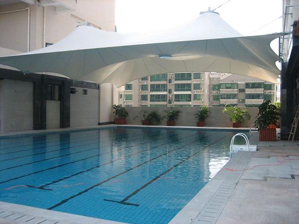 游泳池遮阳膜结构设计,安装,施工一体化服务企业