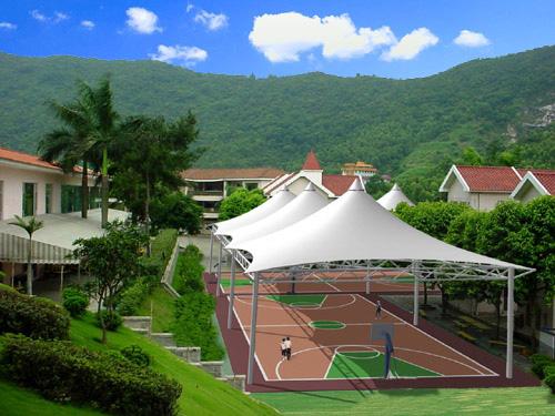 篮球场膜结构设计,安装,施工一体化服务企业,篮球场膜结构报价