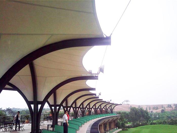 高尔夫球场膜结构,高尔夫打台膜结构,高尔夫膜结构,高尔夫遮阳棚