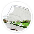采用进口膜材设计制作的奥林匹克体育中心膜结构,使得奥林匹克体育中心膜结构和钢结构工程成为现代化的永久建筑,美观而且耐用。